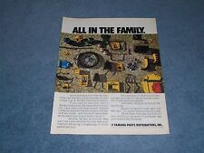 """1973 Yamaha Motorcycle Parts & Accessories Vintage Ad """"All in the Family"""""""