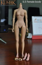 KUMIK 2.5 Body 1/6 Scale Female Action Figure Nude Extra Hands Collectible Model