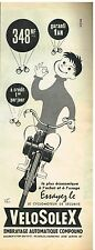 Publicité Advertising 1960 Le Cyclomoteur Solex Vélosolex par René Ravo
