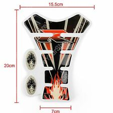 Motorcycle Oil Gas Tank Pad Protector R Flame For Suzuki GSXR 600 750 1000 B K
