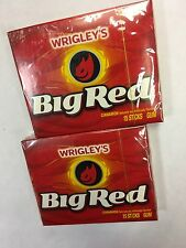 WRIGLEYS BIG RED Cinnamon Flavoured Chewing Gum 2 PACKS Great Value AMERICAN GUM