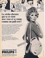 PUBLICITE ADVERTISING 015 1968 PHILIPS séche cheveux portable