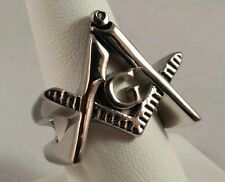 Freemason Square and Compass Cut-Out Ring (size 12)