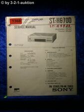Sony Service Manual ST H6700 / H7700 Tuner (#1368)