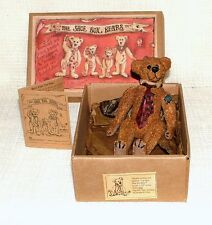 "BOXED Boyds Bears & Friends Shoe Box Bears AUGUSTUS ""GUS"" GRIZBERG 3200"