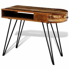 Rustic Writing Computer Desk Reclaimed Solid Wood Office Furniture w/ 1 Drawer
