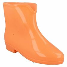 Spot On X1197 PVC Green, Blue or Orange GLOW IN THE DARK Ankle Wellies Festivals