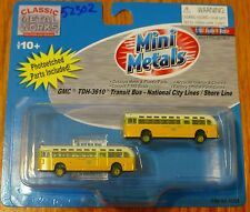 Classic Metal Works #52302 National City Lines GMC TD 3610 Transit Bus 2-Pack