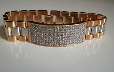 Mens  gold finish hip hop bling designer rapper club style fashion bracelet..