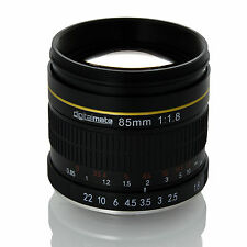 Digitalmate 85mm f/1.8 Manual Focus Aspherical Medium Telephoto Lens for Nikon