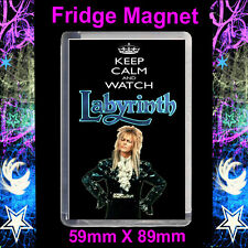 Keep Calm And Watch Labyrinth - Jareth - Cult TV - 59x89mm Fridge Magnet
