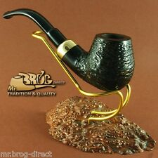 "Mr.Brog original smoking pipe nr 22 black carved "" BENT STECKER "" HAND MADE"