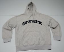 GAP Mens M Gray Polyester Blend Fleece Hoodie Sweatshirt