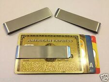 Stainless Steel Money Clip Double Sided Cash Note Credit Card Holder Thin