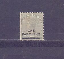 BERMUDA- 1901 - ONE FARTHING OVERPRINT-  MH - 1 STAMP ON QUEEN VICTORIA - B 650