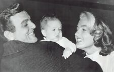1960 Wire Photo actor Mike Connors posing with wife & daughter Dana in Hollywood
