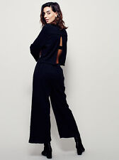 New Free People Hold Tight One Piece Black Cotton Size S $148