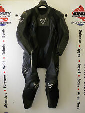 Dainese Bora One Piece Motorcycle Leathers UK 40 All black special edition