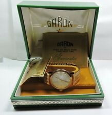 NOS MINT GARON Antique Auto Titan ll  Mens Wrist Watch 25 Jewels Self Winding