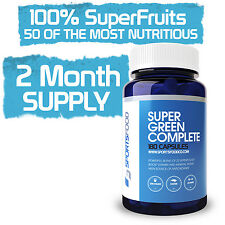 Super Green Complete 1000mg x 180 Capsules, Optimized 22 Nutrient Blend