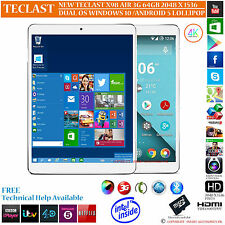 TECLAST X98 AIR 3G 64GB INTEL 2.16GHz DUAL OS WINDOWS 10 ANDROID 5.0 TABLET PC