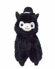 Kawaii Black Top Hat Alpaca Plush Cute Gentleman Llama Plushie 27cm Groom Gift