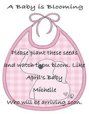 Baby Shower Seed Packets Favors Pink Elephant 30 Quantity