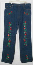 "VINTAGE LEVIS MENS JEANS 517 0217     42"" X 36"" / EMBROIDERED"