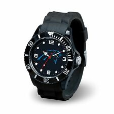 Carolina Panthers NFL Football Team Men's Black Sparo Spirit Watch