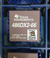 NEW TI / INTEL i486 DX2 CPU 66MHZ PROCESSOR SOCKET PGA 168 486DX2-66
