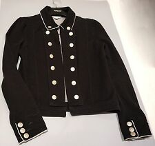Black military Jacket with metal buttons UK size 8/10