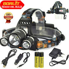 Boruit 13000Lm XML T6 LED Linterna USB head light Lamp 18650 USB/AC/Car Cargador