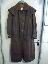 BARBOUR BACKHOUSE STOCKMAN FULL LENGTH RIDING WAXED COAT JACKET SIZE C38 97CM S