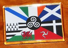 The Seven Celtic nations flags fridge magnet