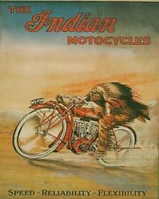 VINTAGE INDIAN MOTORCYCLE AD 8X10 ART PRINT 1257