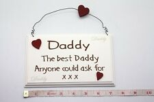 The Best Daddy Wall Plaque Sign Christmas Stocking Filler Gift Ideas for Her