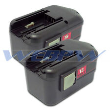 TWO Power Tool Batteries For MILWAUKEE 18V 48-11-2200 48-11-2230 2232 Battery x2