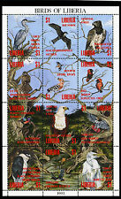 Liberia 1993 Sheetlet  MNH 12 stamps Birds CV $ 53 sale!!