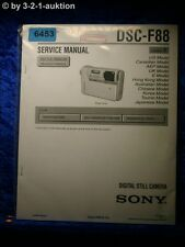 Sony Service Manual DSC F88 Level 1 Digital Still Camera (#6453)
