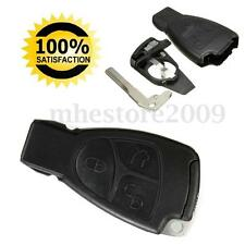 3 Button Remote Key Case w/ Smart Insert Key For Mercedes Benz  M C B E CL SL