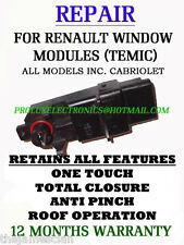 RENAULT MEGANE 2 CC TEMIC WINDOW MODULE FULL REPAIR SERVICE SAME DAY SERVICE!!