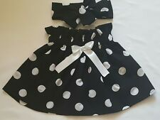 Beautiful Summer Polkadots Print Baby's Skirt and Headwrap New