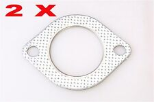 """2.5"""" Exhaust Pipe Metal Gasket Reinforced Ring 2.5 inch Decat 64mm Downpipe x2"""