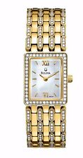 Bulova Women's 98L159 Crystal Bezel Yellow Gold Quartz Dress Bracelet Watch