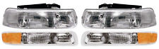 NEW Head Light & Turn Signal Lamp Set / 1999-02 SILVERADO & 00-06 SUBURBAN TAHOE