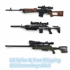 1/6 Scale guns SVD/TAC-50/MK14 total 3 guns + 1 gift pistol and 1 grenade