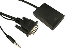 Svga / Vga A Hdmi Convertidor Con 3.5 mm Jack De Audio Usb Powered 1080p Adaptador