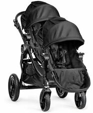 2016 Baby Jogger City Select Twin Tandem Double Stroller Black w/ Second Se