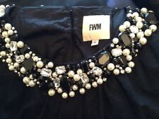 Beaded Black Cocktail Dress By FWM Size 16