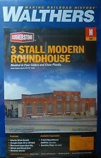 Walthers N #933-3260 (3 Stall Modern Roundhouse Kit) Plastic kit